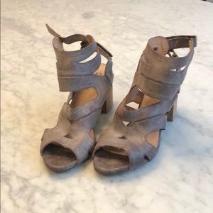 Mix Mooz BRN Leather Heel Sandal 8